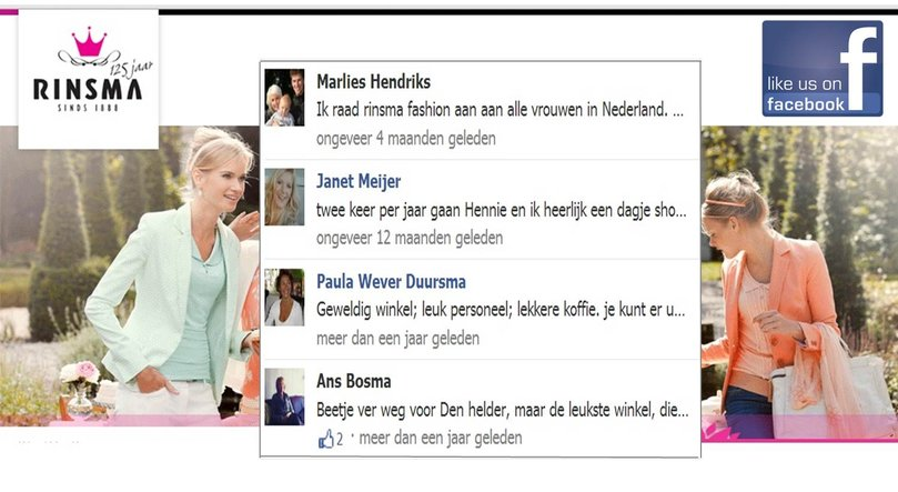 veel opties met Facebook in myeasychannel